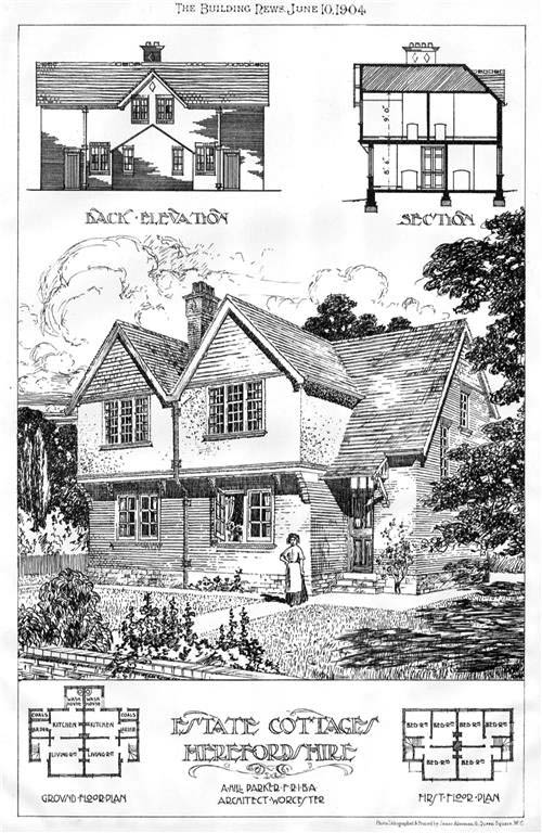 1904 &#8211; Estate Cottages, Herefordshire