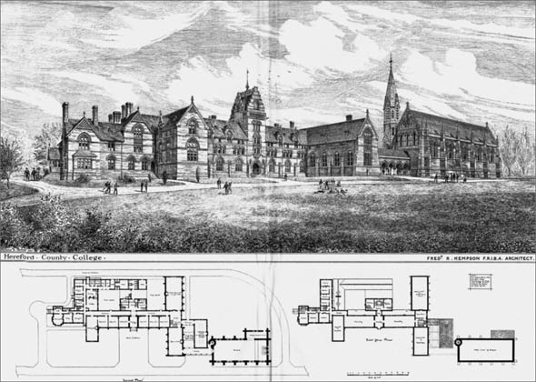 1881 &#8211; Hereford County College, Herefordshire