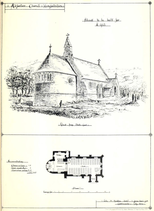 1875 – St. Andrew's Church, Adforton, Herefordshire