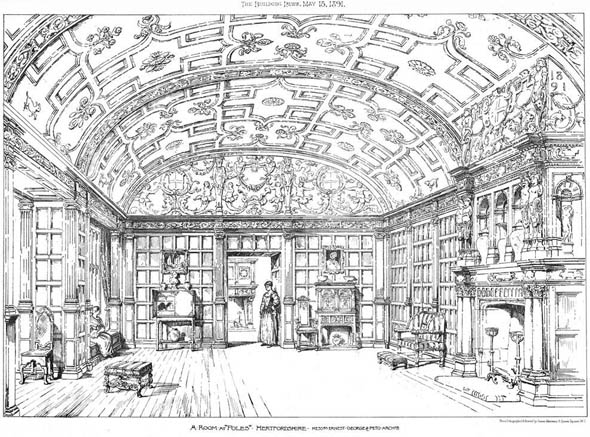 1891 &#8211; Room at &#8216;Poles&#8217;, Interior, Hertfordshire