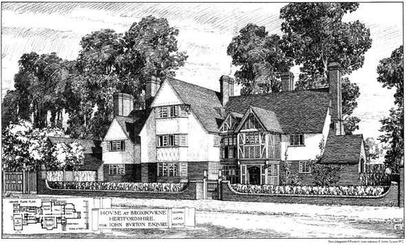 1910 &#8211; House at Broxbourne, Hertfordshire