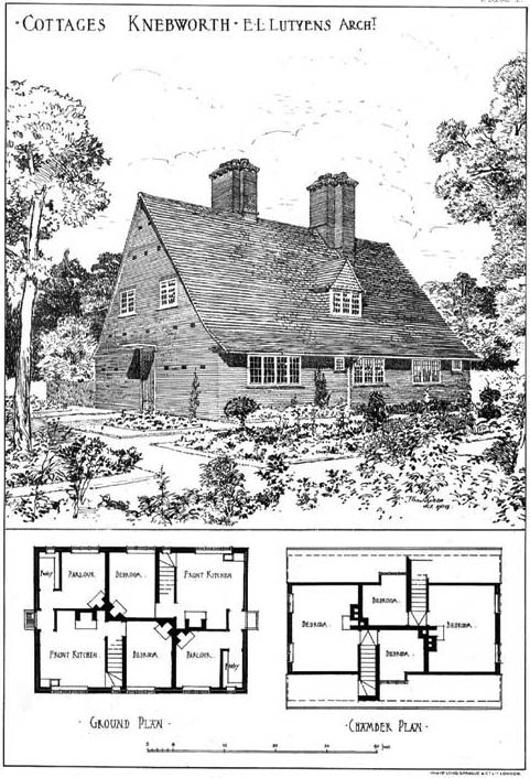 1904 – Cottages, Knebworth, Hertfordshire