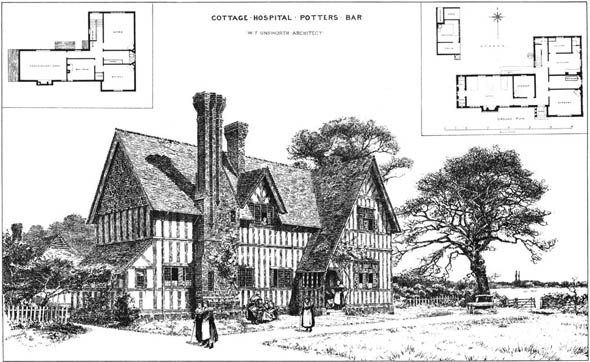 1885 &#8211; Cottage Hospital, Potters Bar, Hertfordshire