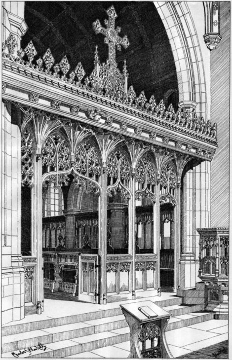1906 &#8211; Rood Screen, Aldenham Church, Hertfordshire