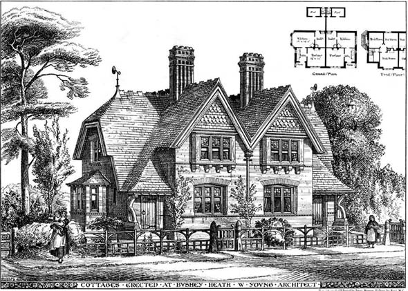 1875 – Cottages, Bushey Heath, Hertfordshire