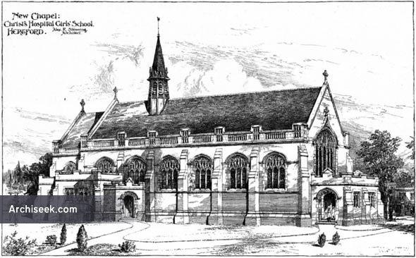 1906 – New Chapel, Christs Hospital Girls School, Hertfordshire