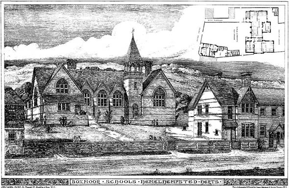 1880 – Boxmoor Schools, Hemel Hempstead, Hertfordshire