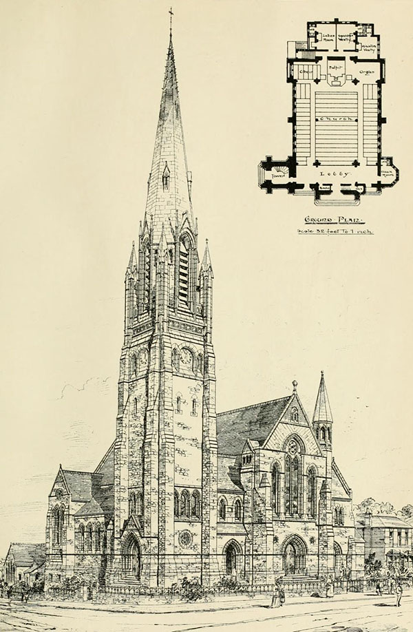 1880 &#8211; Congregational Church, New Barnet, Hertfordshire