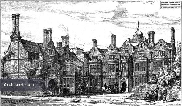 1879 – Rawdon House, Hoddesdon, Hertfordshire