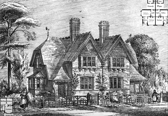 1875 &#8211; Cottages, Oxhey, Hertfordshire