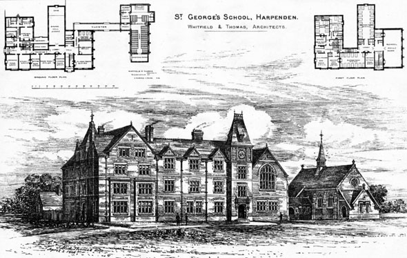 1886 &#8211; St. George&#8217;s School, Harpenden, Hertfordshire