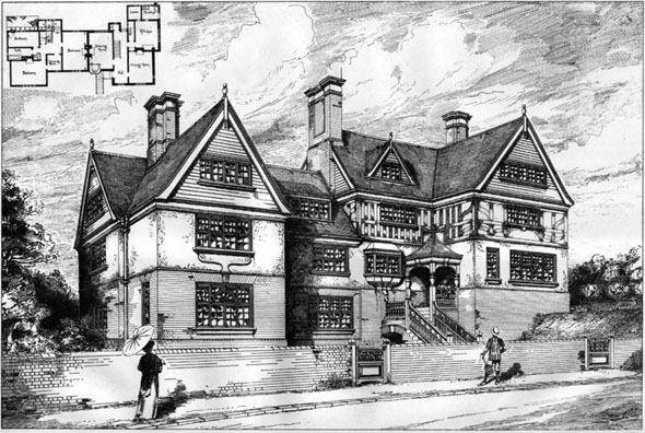 1887 – Houses at Broxbourne, Hertfordshire