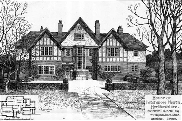 1900 house at letchmore heath hertfordshire for 1900 architecture houses