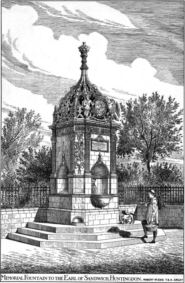 1885 &#8211; Memorial Fountain to The Earl of Sandwich, Huntingdonshire