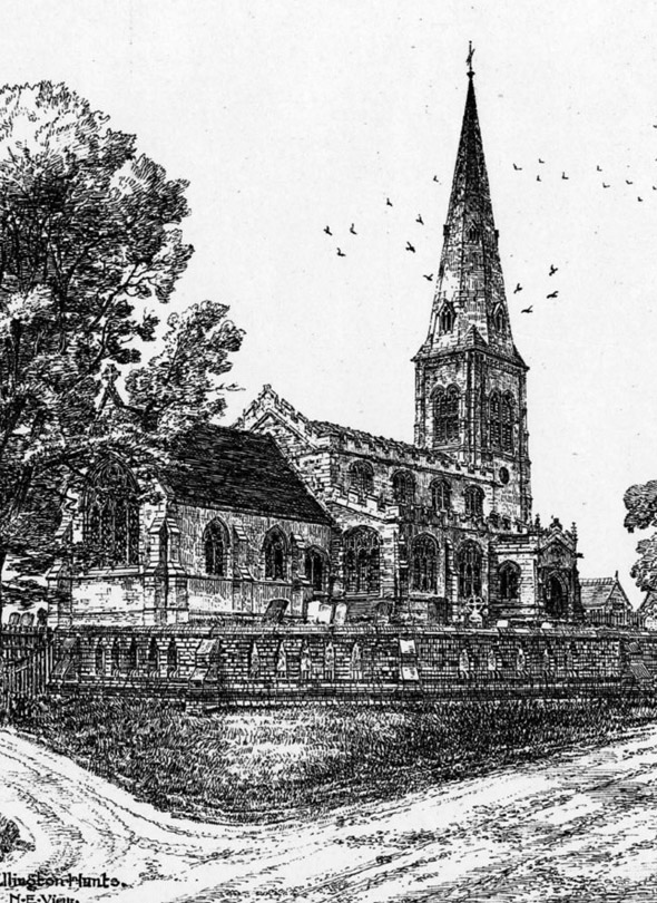 1863 – All Saint's Church, Ellington, Huntingdonshire