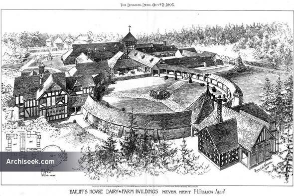 1908 – Bailiffs House, Dairy & Farm Buildings, Hever, Kent