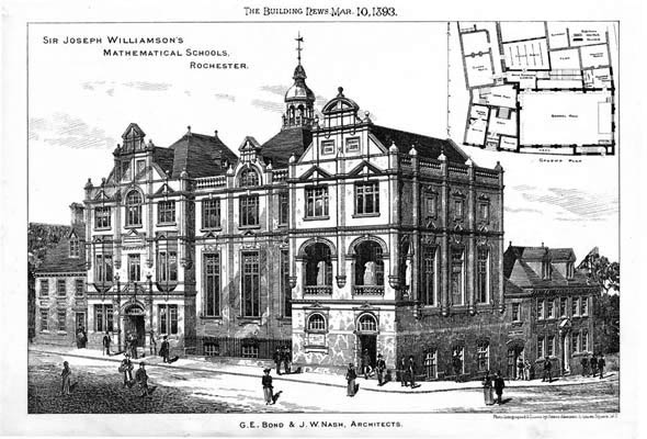 1893 &#8211; Sir Joseph Williamson&#8217;s Mathematical Schools, Rochester, Kent