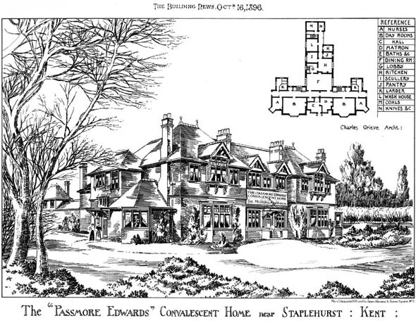 1896 – Passmore Edwards Convalescent Home, Staplehurst, Kent