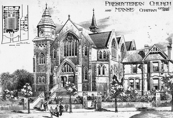 1891 &#8211; Presbyterian Church &#038; Manse, Chatham, Kent