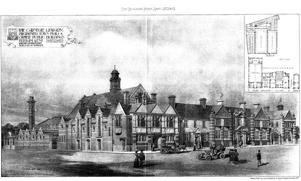 1905 &#8211; Carnegie Library &#038; Town Hall, Eltham, Kent