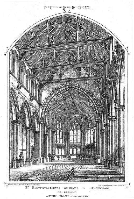 1873 &#8211; St. Bartholomews Church, Sydenham, Kent