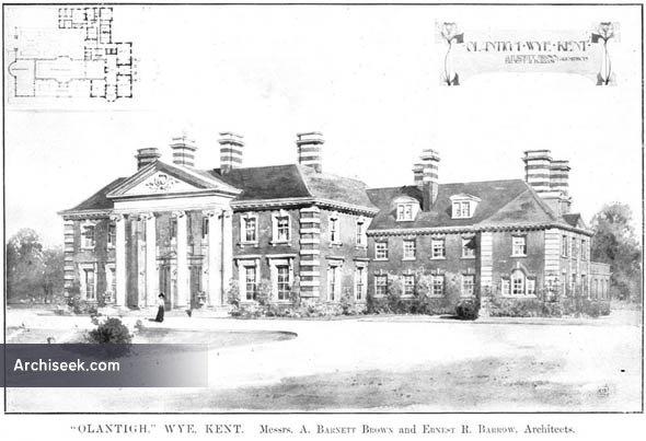 1910 – 'Olantigh', Wye, Kent