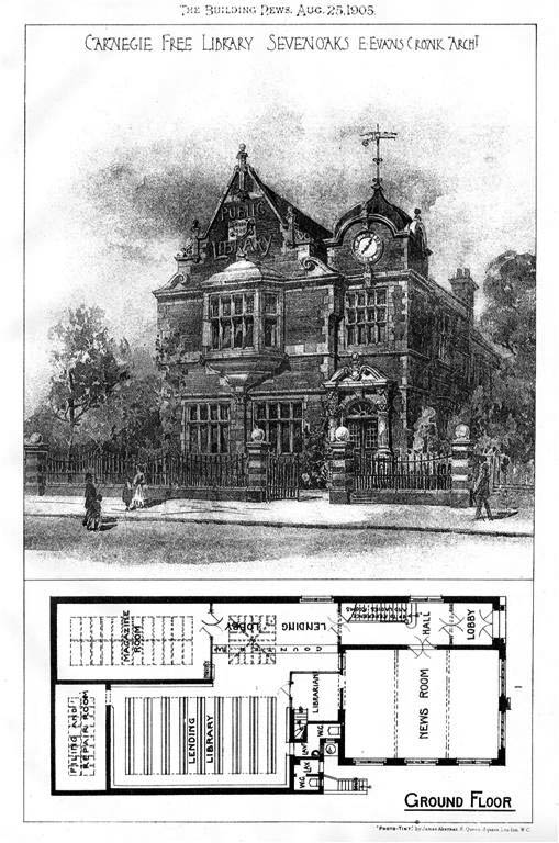 1905 &#8211; Carnegie Free Library, Sevenoaks, Kent