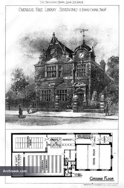 1905 – Carnegie Free Library, Sevenoaks, Kent