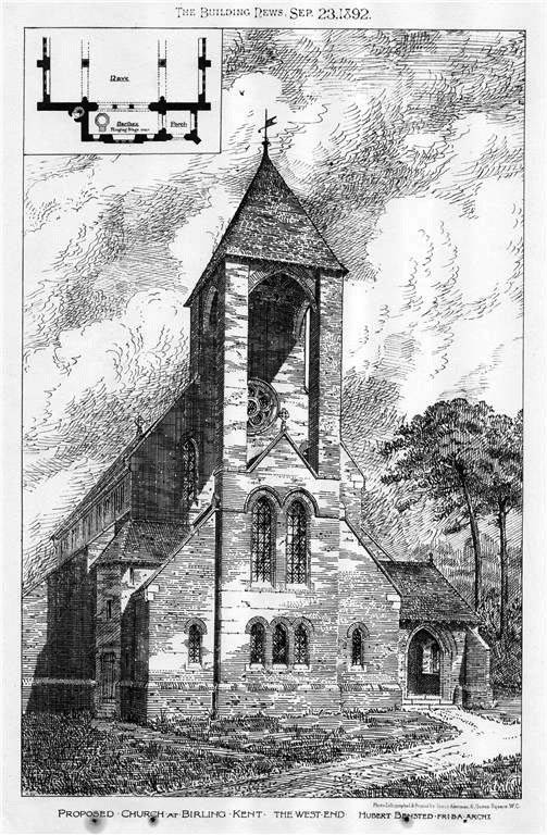 1892 &#8211; Proposed Church at Birling, Kent