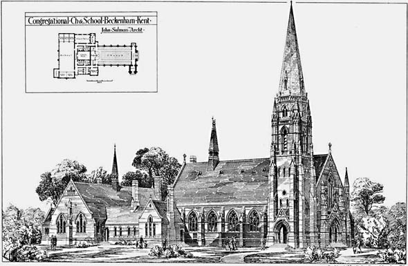 1877 – Congregational Church & School, Beckenham, Kent