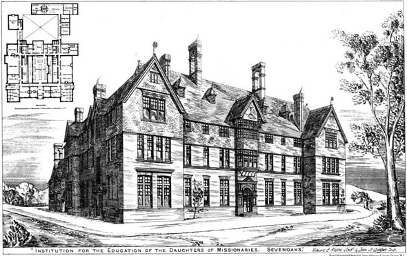 1878 – Institution for the Education of the Daughters of Missionaries, Sevenoaks, Kent
