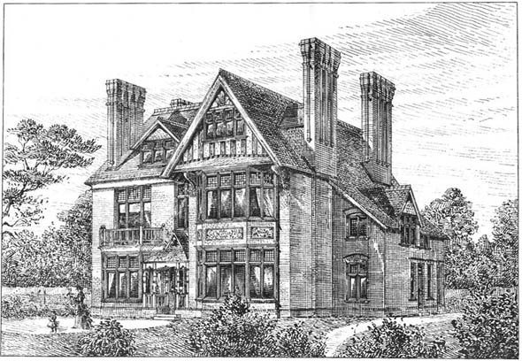 1886 &#8211; House at Shortlands, Kent