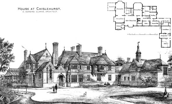 1878 &#8211; House at Chislehurst, Kent