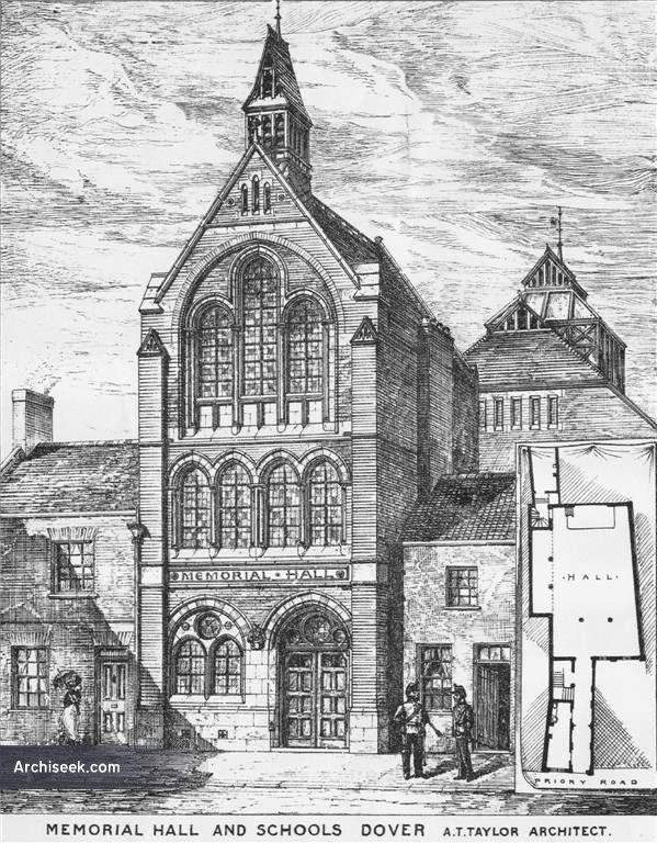 1880 – Memorial Hall & Schools, Dover, Kent
