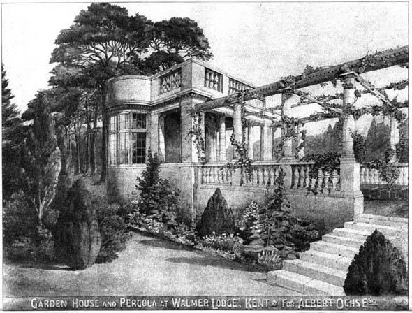 1903 &#8211; Garden House &#038; Pergola, Walmer Lodge, Kent