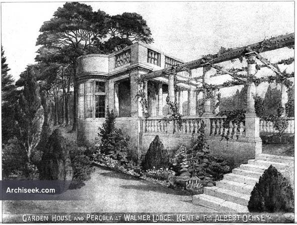 1903 – Garden House & Pergola, Walmer Lodge, Kent