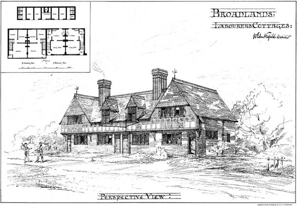 1904 &#8211; Four Cottages, Broadlands, Kent