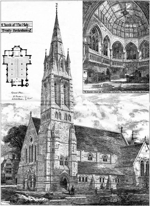 1878 &#8211; Church of the Holy Trinity, Beckenham, Kent
