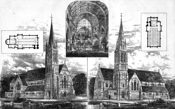 1877 &#8211; Designs for Church at Lee, Kent