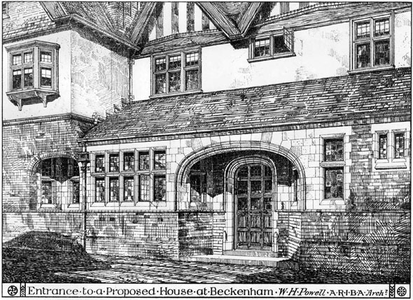 1883 – Entrance to a House at Beckenham, Kent