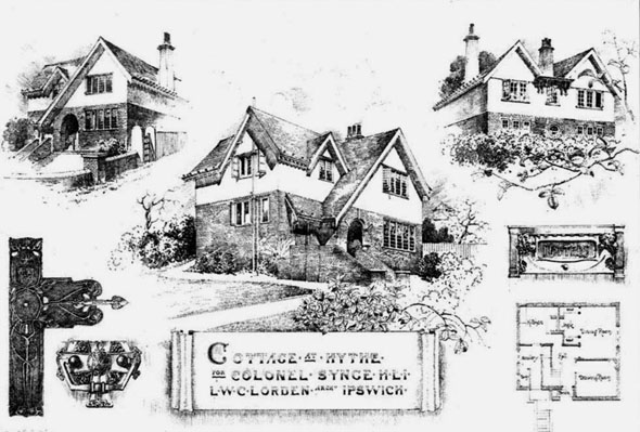 1905 &#8211; Cottages at Hythe, Kent