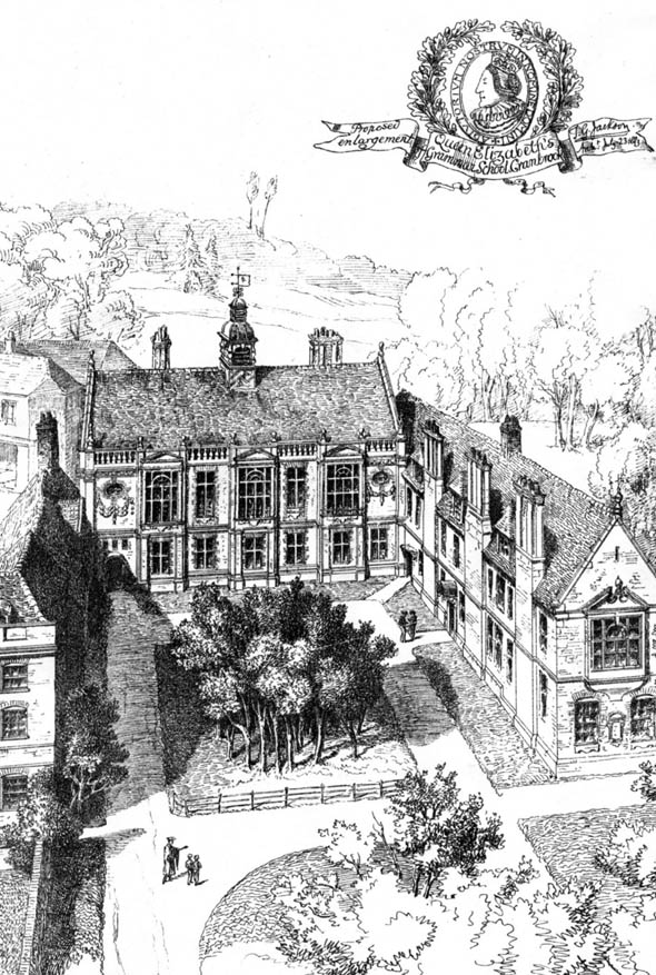 1884 &#8211; Queen Elizabeths Grammar School, Cranbrook, Kent