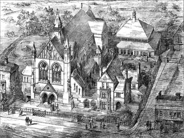 1881 &#8211; Congregational Church, School &#038; Ministers House, Bromley, Kent
