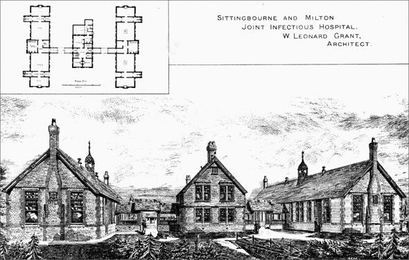 1884 – Sittingbourne & Milton Joint Infectious Hospital, Kent