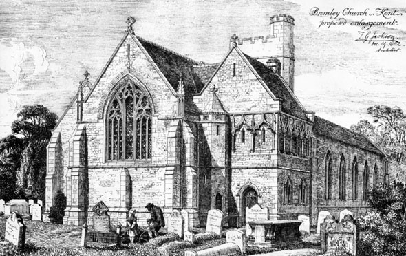 1882 – Extension to Church, Bromley, Kent