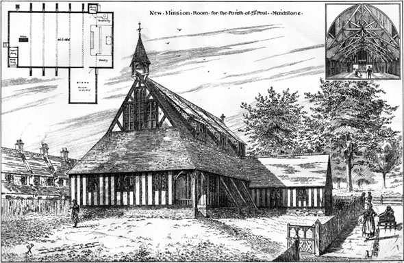 1887 – New Mission Room for the Parish of St. Paul, Maidstone, Kent