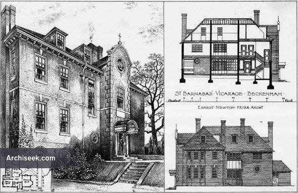 1895 – St.Barnabas' Vicarage, Beckenham, Kent