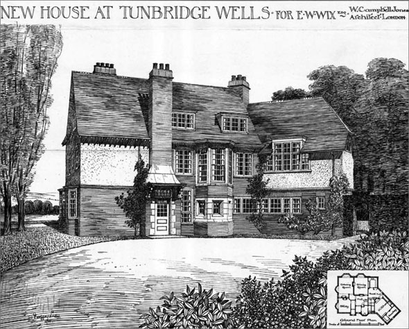 1900 &#8211; New House at Tunbridge Wells, Kent