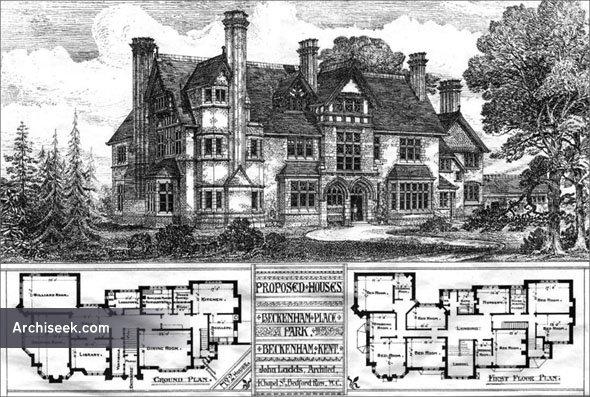 1886 – Proposed Houses at Beckenham Place Park, Beckenham, Kent