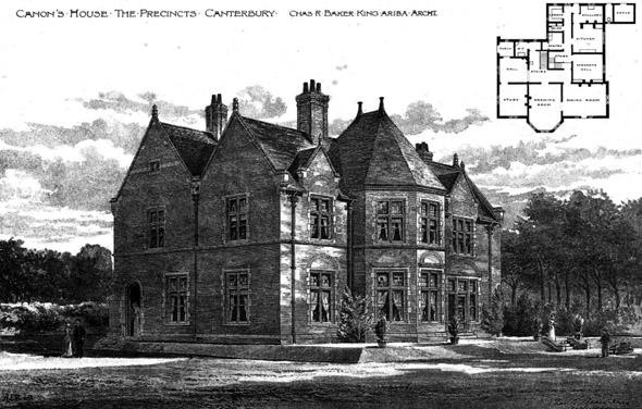 1893 &#8211; Canons House, The Precincts, Canterbury, Kent